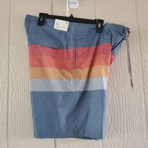 Goodfellow & Co board shorts rainbow pastel sz.38
